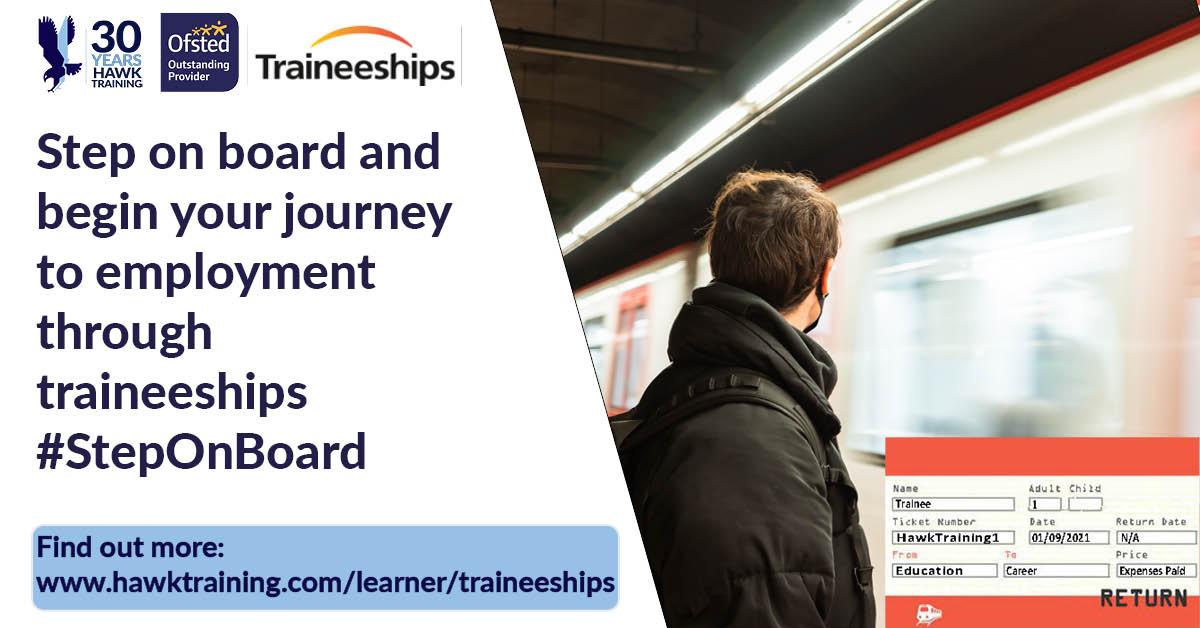 Traineeship banner - learner - white background